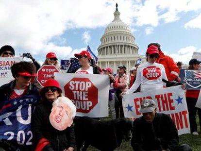 Los republicanos coordinan su estrategia con la Casa Blanca y cierran filas en torno al presidente mientras la Cámara de Representantes se dispone a impulsar el  impeachment