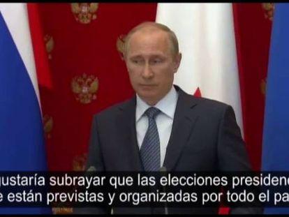 El presidente Vladímir Putin, este miércoles.