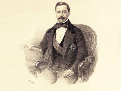Agustín Esteban Collantes, el primer ministro español que pasó por un juzgado. Fue en 1859 y resultó absuelto de las acusaciones de fraude.