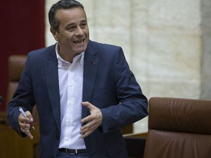 José Antonio Castro, en el Parlamento.