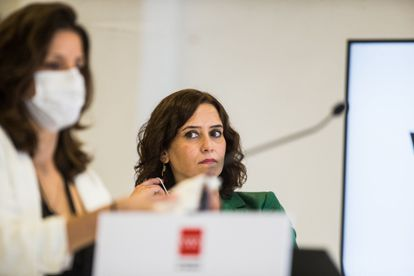 La presidenta de la Comunidad de Madrid, Isabel Díaz Ayuso, durante un acto en la última semana.