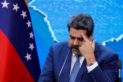 Nicolás Maduro da una conferencia de prensa desde el Palacio de Miraflores, en Caracas este jueves.