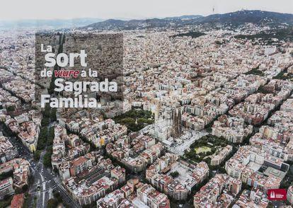 Cartel de la campaña de la Sagrada Familia.