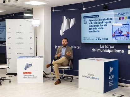El presidente de la Associació Catalana de Municipis (ACM), Lluís Soler, en un acto el pasado junio.