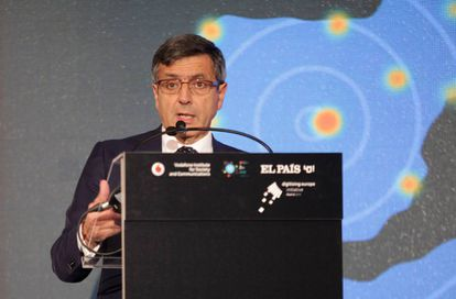 Francisco Román, presidente de Vodafone España, durante el foro Big Data.
