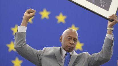 El opositor cubano Guillermo Fariñas, en una imagen tras recibir el premio Sájarov.