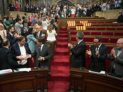 Junts pel Sí y la CUP aprueban la ley del referéndum con la ausencia de Ciudadanos, PSC y PP