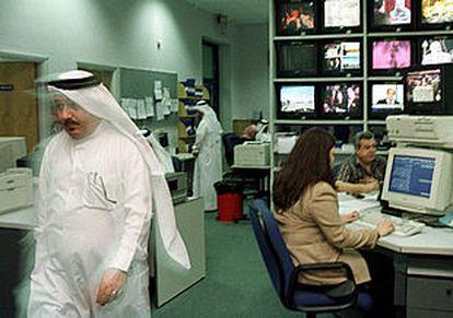Estudios de la cadena de televisión Al Yazira, en Doha (Qatar).