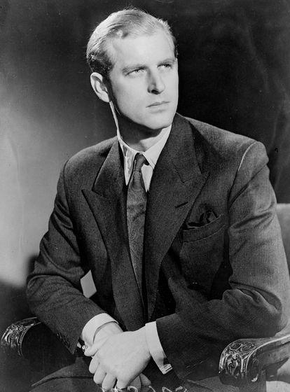 El lugarteniente Philip Mountbatten, en noviembre de 1947.