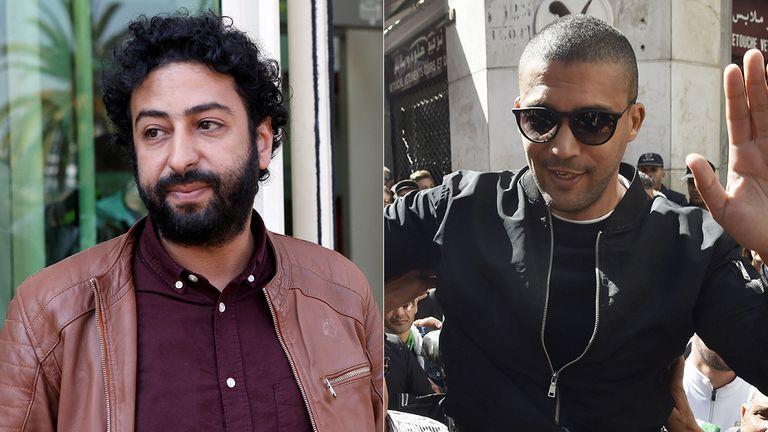 Los periodistas Omar Radi y Khaled Drareni.