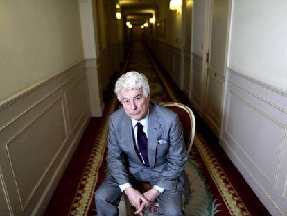 El escritor Ken Follett, en un hotel de Madrid en 2012.