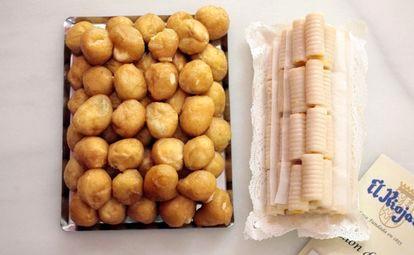 Buñuelos y huesos de santo de El Riojano