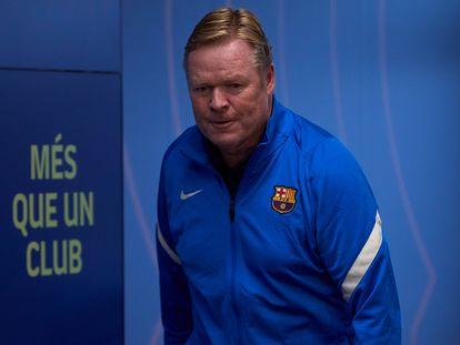 Ronald Koeman, en la sala de prensa de la Ciudad Deportiva Joan Gamper.