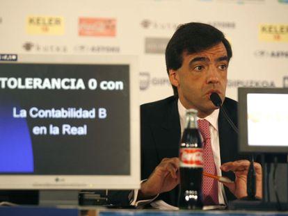 Iñaki Badiola, en 2008 durante su etapa como presidente de la Real Sociedad.
