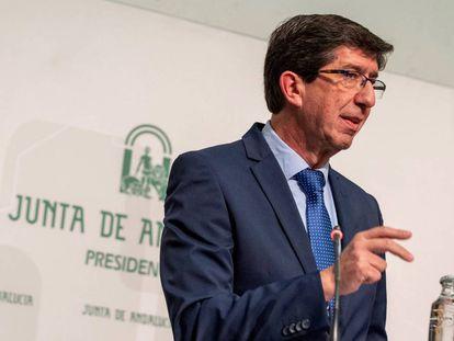 El líder de Ciudadanos en Andalucía y vicepresidente de la Junta, Juan Marín.