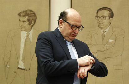 El presidente del Tribunal de Cuentas, Ramón Alvarez de Miranda, comparece en julio de 2014 en el Congreso de los Diputados.