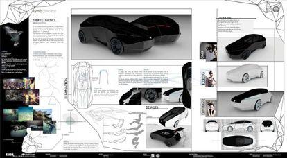 Vehículo conceptual autopilotado inventado por los alumnos de la Escuela Universitaria de Diseño Industrial (EUDI) de Ferrol en 2011. En este monoplaza, el conductor podría adoptar una posición fetal para viajar durmiendo.