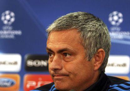 Mourinho, durante la comparecencia de prensa en Nicosia