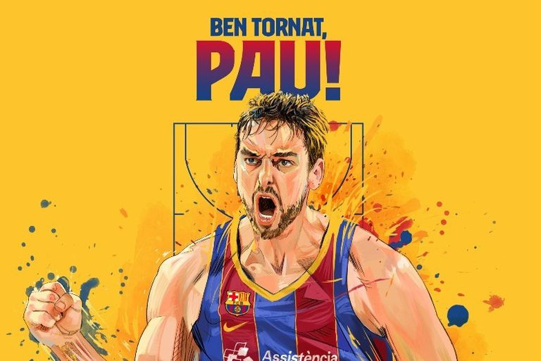 L'image diffusée par le Barça pour communiquer la signature de Pau Gasol.