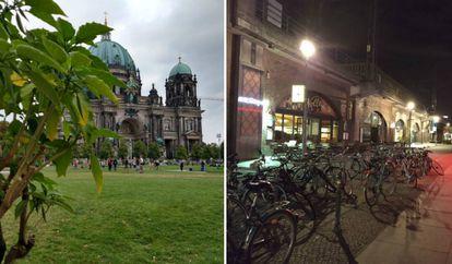 A la izquierda, fotografía de día tomada en automático con HDR. A la derecha, foto nocturna en automático.