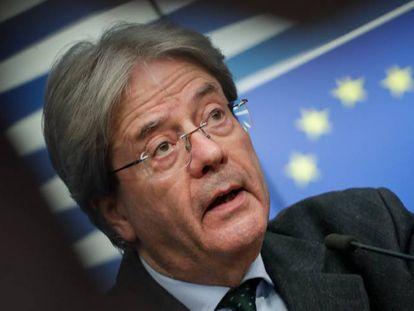 El comisario europeo de Economía, Paolo Gentiloni, durante una rueda de prensa en Bruselas.