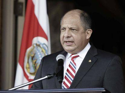 El presidente costarricense, Luis Guillermo Solís.