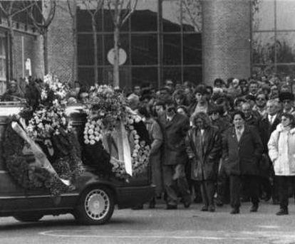 El entierro de las víctimas del caso Lady Halcón, en Zaragoza.