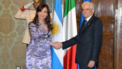 Cristina Fernández durante su encuentro con su homólogo italiano.