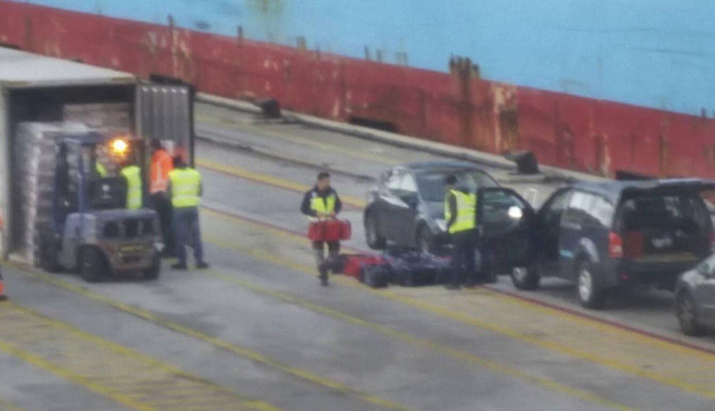 Incautación de un alijo de cocaína en el puerto de Barcelona, el pasado enero.