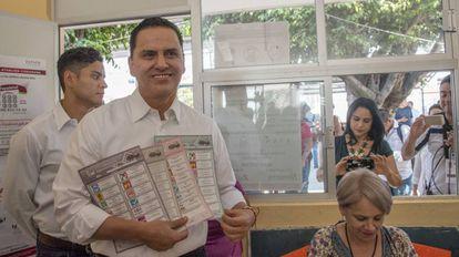 Roberto Sandoval, en Tepic en junio de 2017.