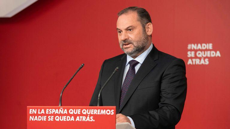 José Luis Ábalos, secretario de Organización del PSOE y ministro de Transportes.