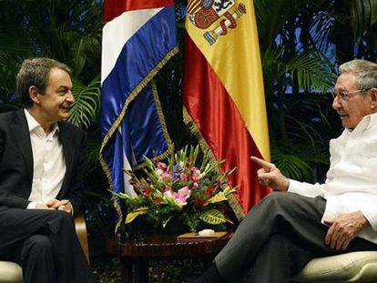 Zapatero con Castro en La Habana.