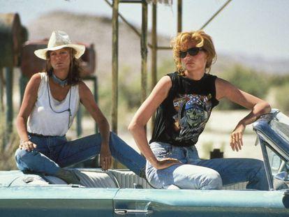 Susan Sarandon y Geena Davis en una escena de 'Thelma y Louise' (1991).