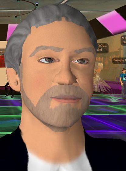 Con su nombre completo (GasparLlamazares) y una apariencia relativamente similar a la que tiene en la vida real, el avatar del político de Izquierda Unida se pasea por Second Life.