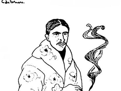 Caricatura de Stephen Crane.
