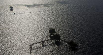 Una plataforma petrolífera de Pemex en el yacimiento mexicano de Ku-Maloob-Zaap.