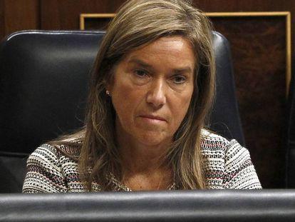 Ana Mato, exministra de Sanidad, en el Congreso de Los Diputados.