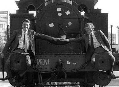 Agustín Rodríguez Sahagún y Fernando Castedo, en las elecciones de 1987.
