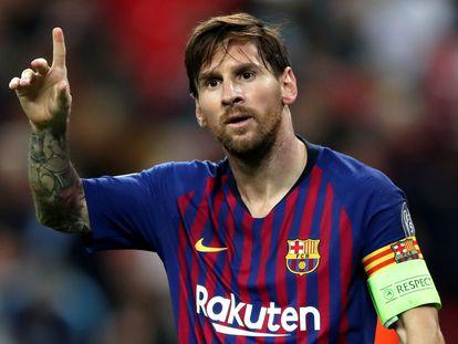 Messi, en la Champions.