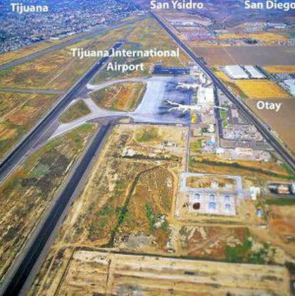 Imagen del proyecto de construcción de la pasarela entre Tijuana y San Diego.