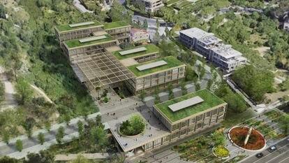 """Recreación virtual del futuro CaixaResearch Institute de la Fundació """"laCaixa"""" en Barcelona."""