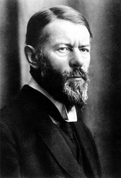 El pensador alemán Max Weber en 1917.