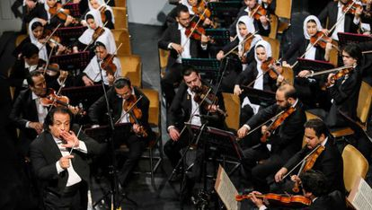 La Orquesta Sinfónica de Teherán en una actuación el pasado marzo.