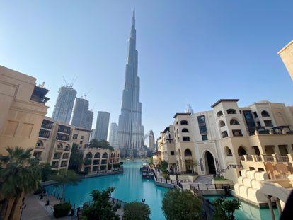 Vista del edificio Burj Khalifa, en Dubái (Emiratos Árabes Unidos).