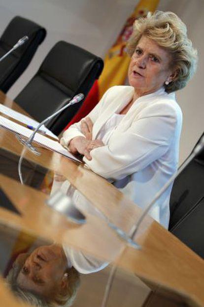 La defensora del pueblo, Soledad Becerril, en 2012.