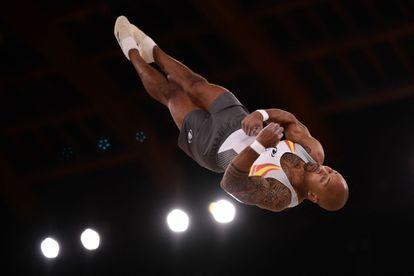 El español Ray Zapata durante la competición de gimnasia artística de los Juegos Olímpicos de Tokio.