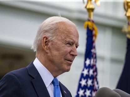 El presidente Joe Biden, este jueves en la Casa Blanca.