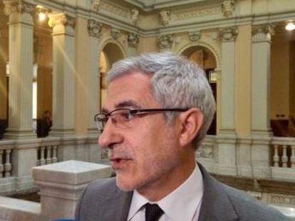 El portavoz de IU en Asturias explica en unas grabaciones a las que ha tenido acceso EL PAÍS que está  disponible  para concurrir a las elecciones europeas con su partido Actúa