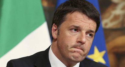 El exprimer ministro italiano Mario Renzi, durante una rueda de prensa, el pasado marzo en Roma.