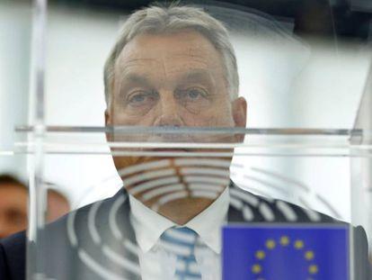 Viktor Orbán en el Parlamento europeo.
